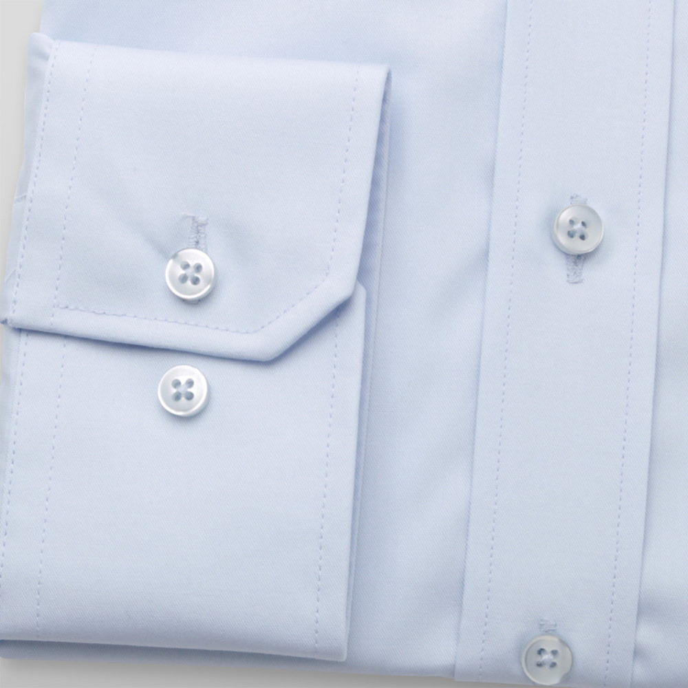 Men's Slim Fit light blue shirt with smooth pattern 12164