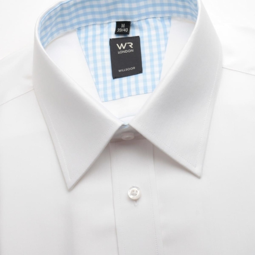 Men slim fit shirt WR London (height 164-170) 1380 in white color