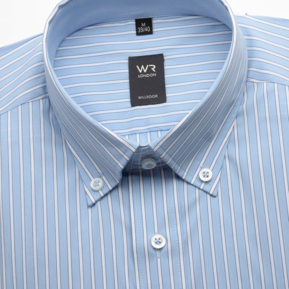 Men shirt WR London in blue color with strip (height 176-182) 1387