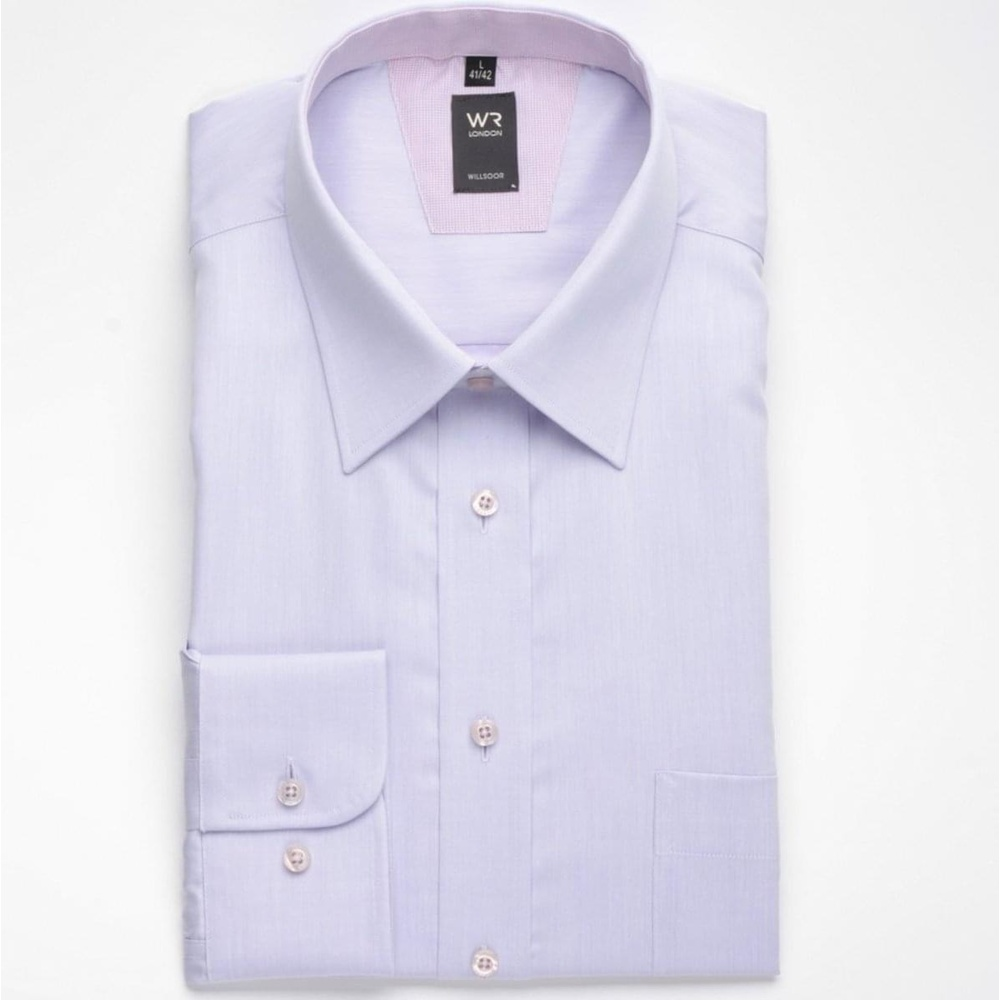 Men classic shirt London (height 176/182 a 188/194) 1391 in light purple color