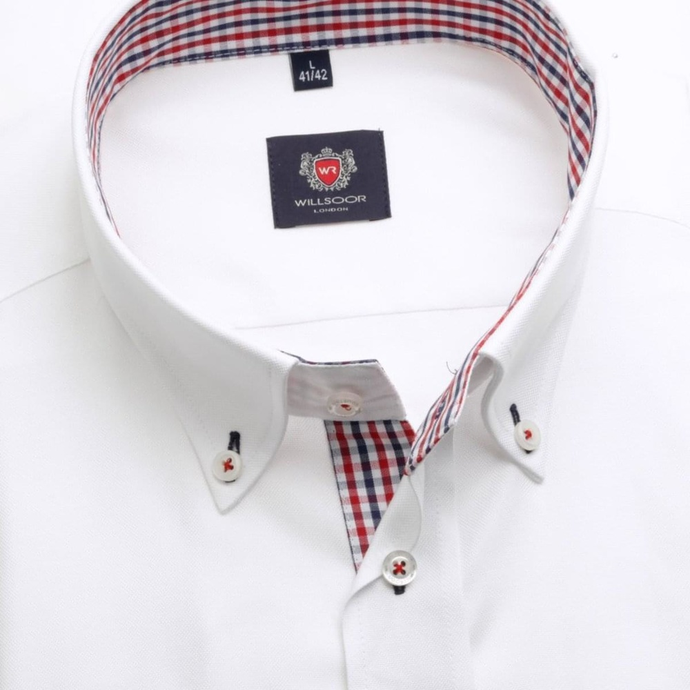 Men classic shirt WR London (height 164-170) 1948 in white color with formula 2W Plus
