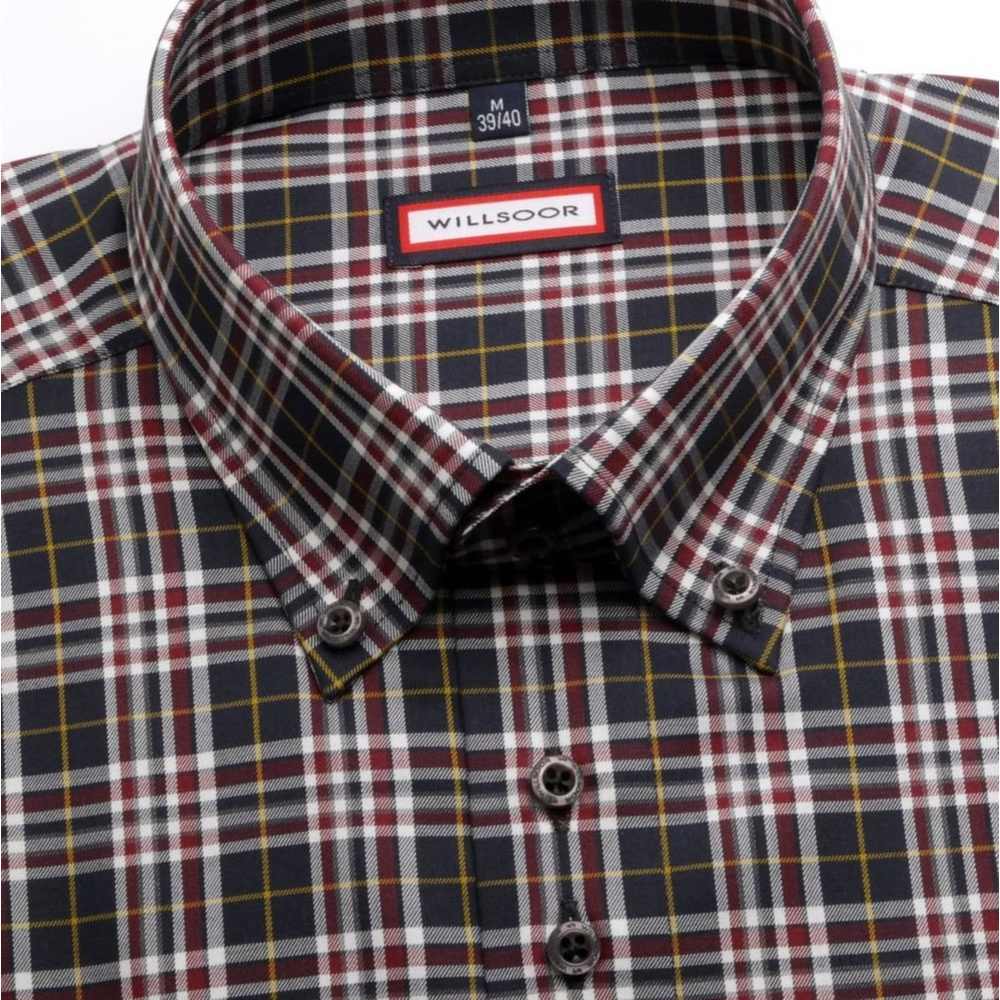 Men shirt WR Slim Fit in blue color with checked pattern (height 176-182) 4470