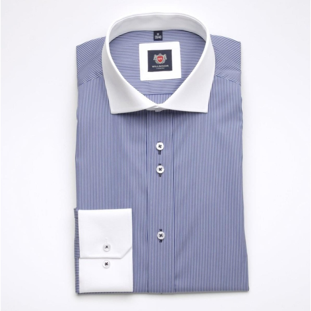 Men shirt WR London in blue color with strip (height 188-194) 4509