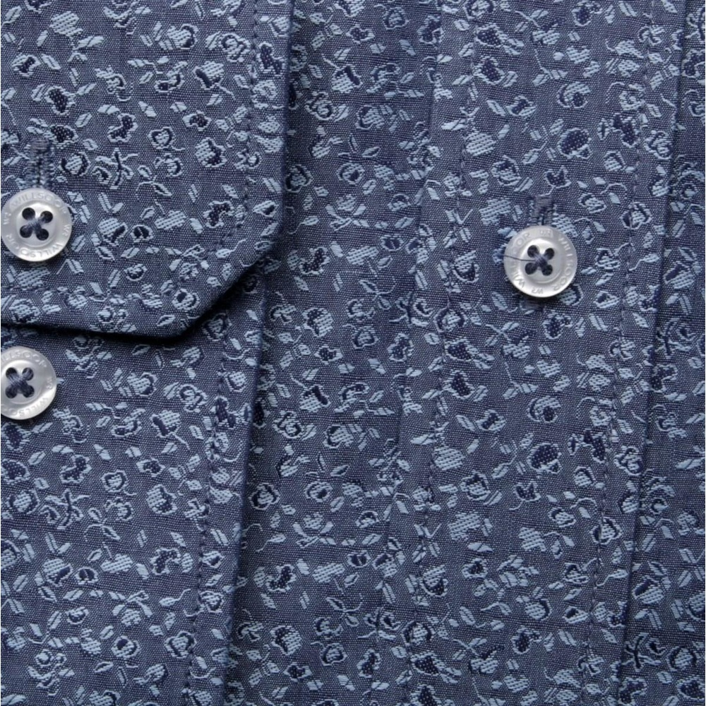 Men shirt WR London in blue color with pattern flowers (height 176-182) 4529