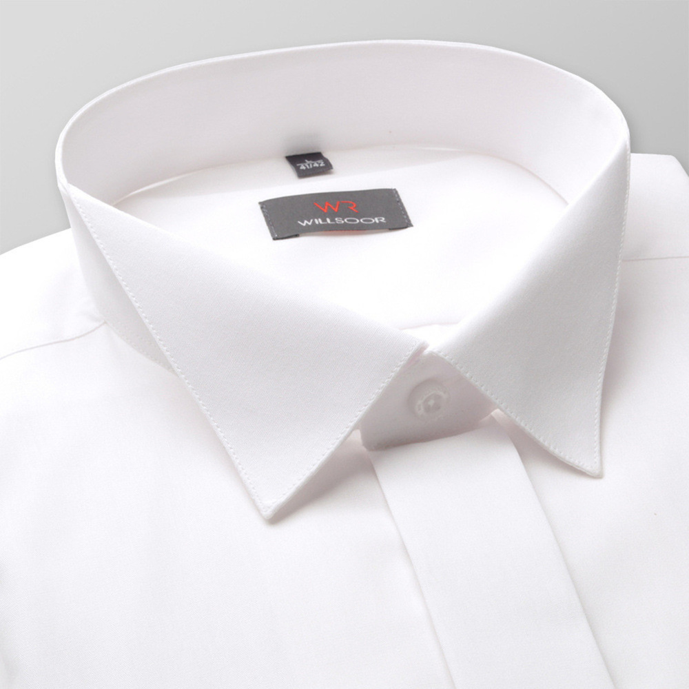 Men shirt WR Slim Fit in white color (height 176-182) 4577