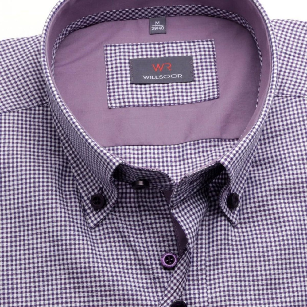 Men shirt WR London in white color with checked (height 176-182) 4642