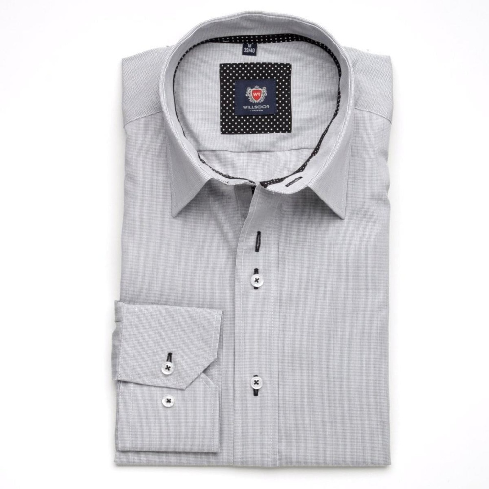 Men shirt WR London in white color with checked (height 198-204) 5099