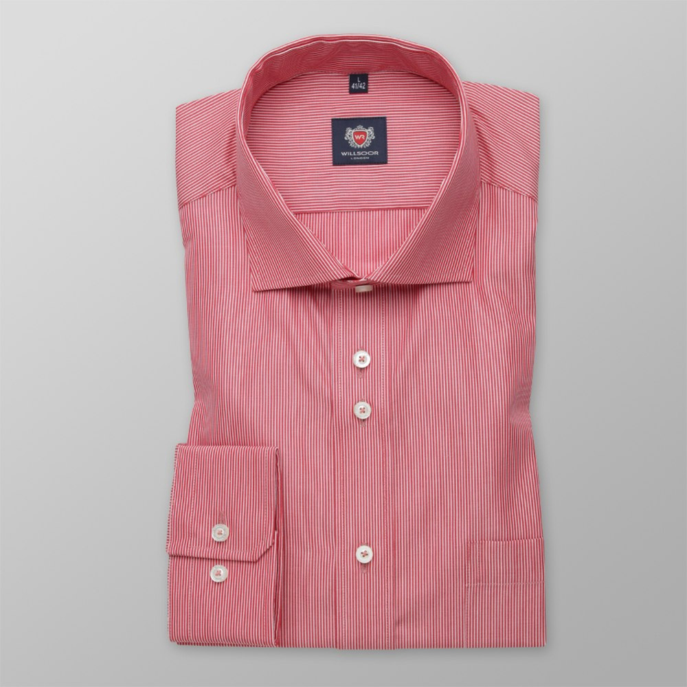 Men shirt WR London in red color with strip (height 176-182) 5181