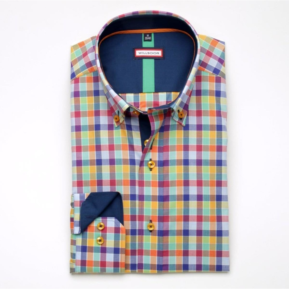 Men shirt WR Classic with color checked pattern (height 176-182) 5238