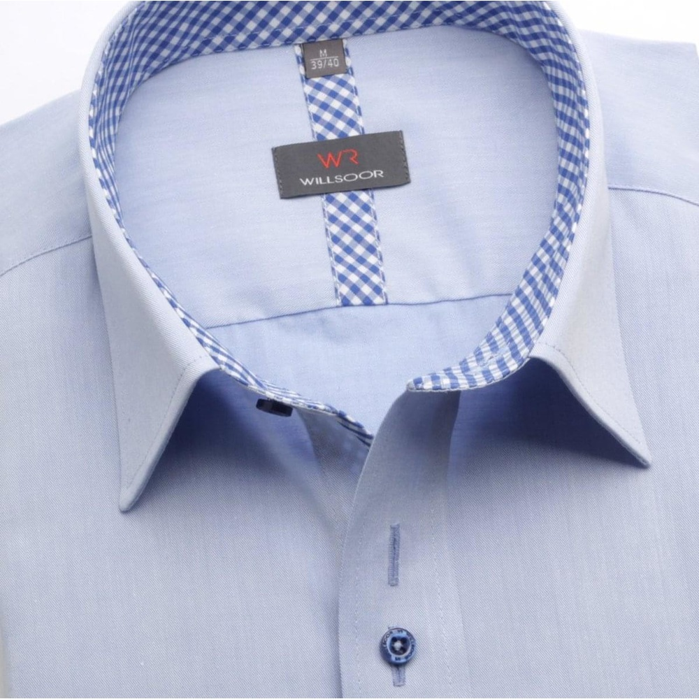 Men shirt WR Slim Fit in blue color (height 164-170) 5266
