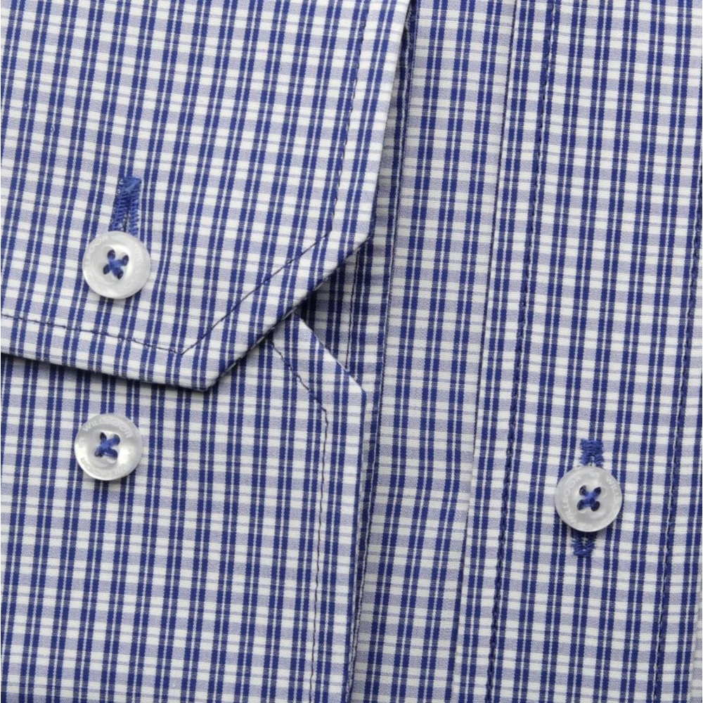 Men shirt WR London in blue color with checked (height 188-194) 5291