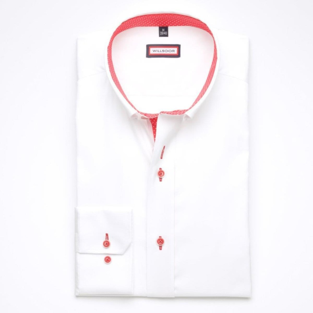 Men shirt WR Slim Fit in white color (height 176-182) 5322