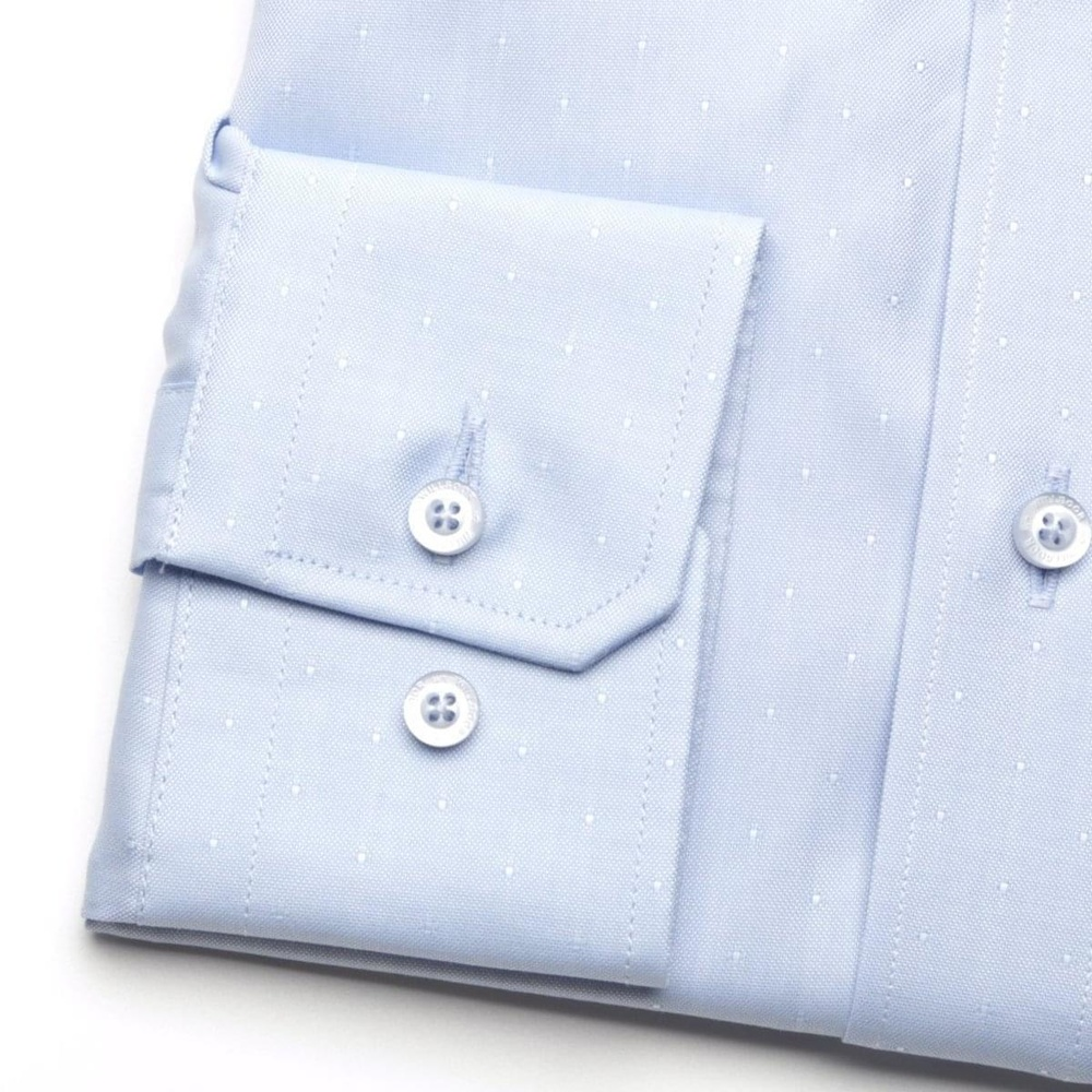 Men shirt London in pale blue color (height 176-182) 5506