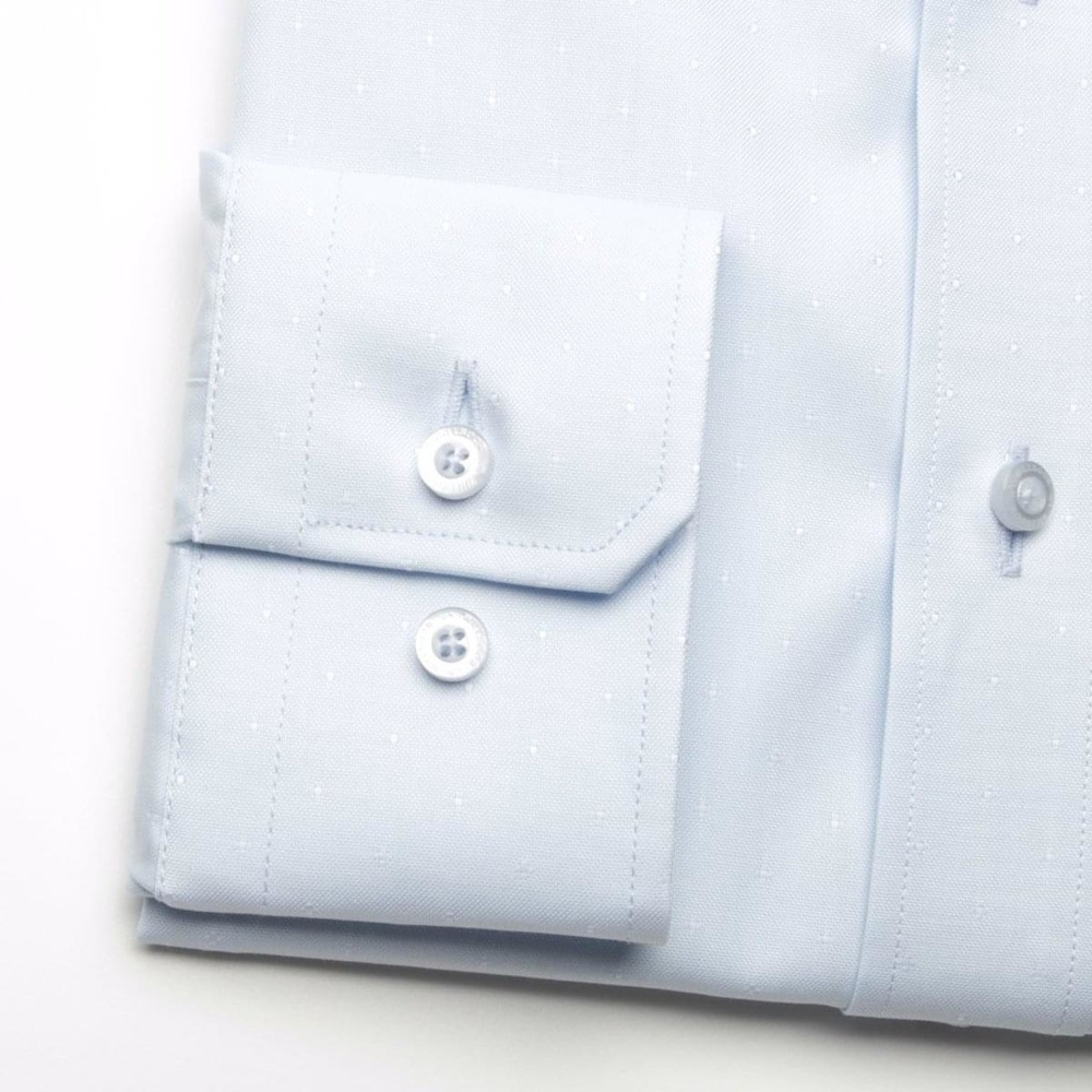 Men shirt London in pale blue color (height 188-194) 5509