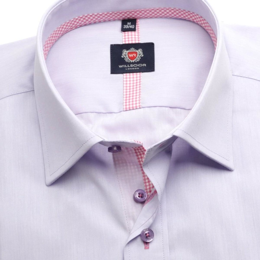Men shirt London in violet color (height 164-170) 5512