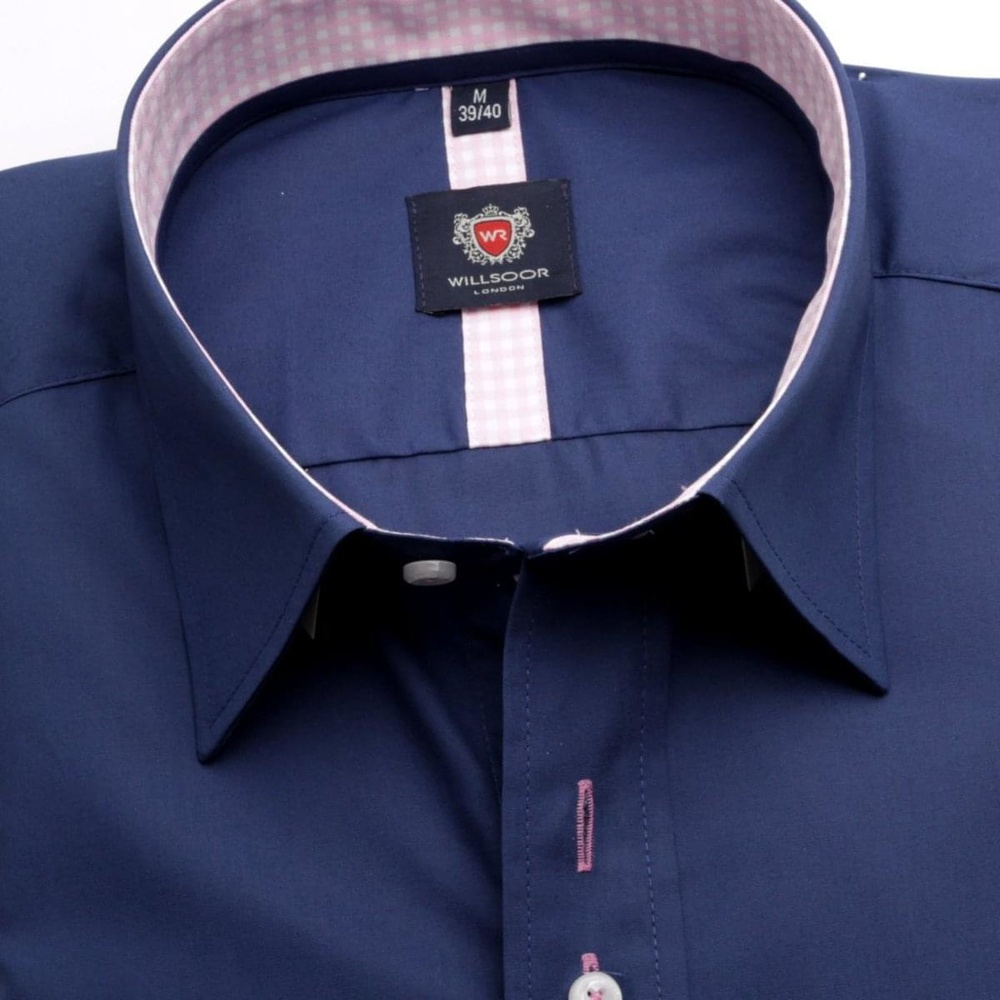 Men shirt London in blue color (height 176-182) 5517