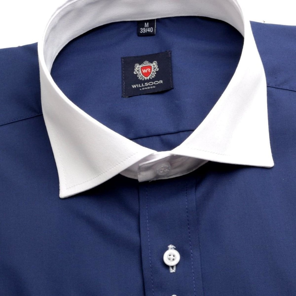 Men shirt London in blue color (height 188-194) 5518