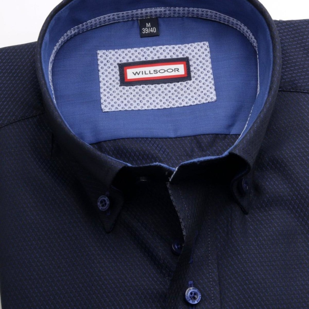Men shirt Slim Fit in blue color (height 176-182) 5536