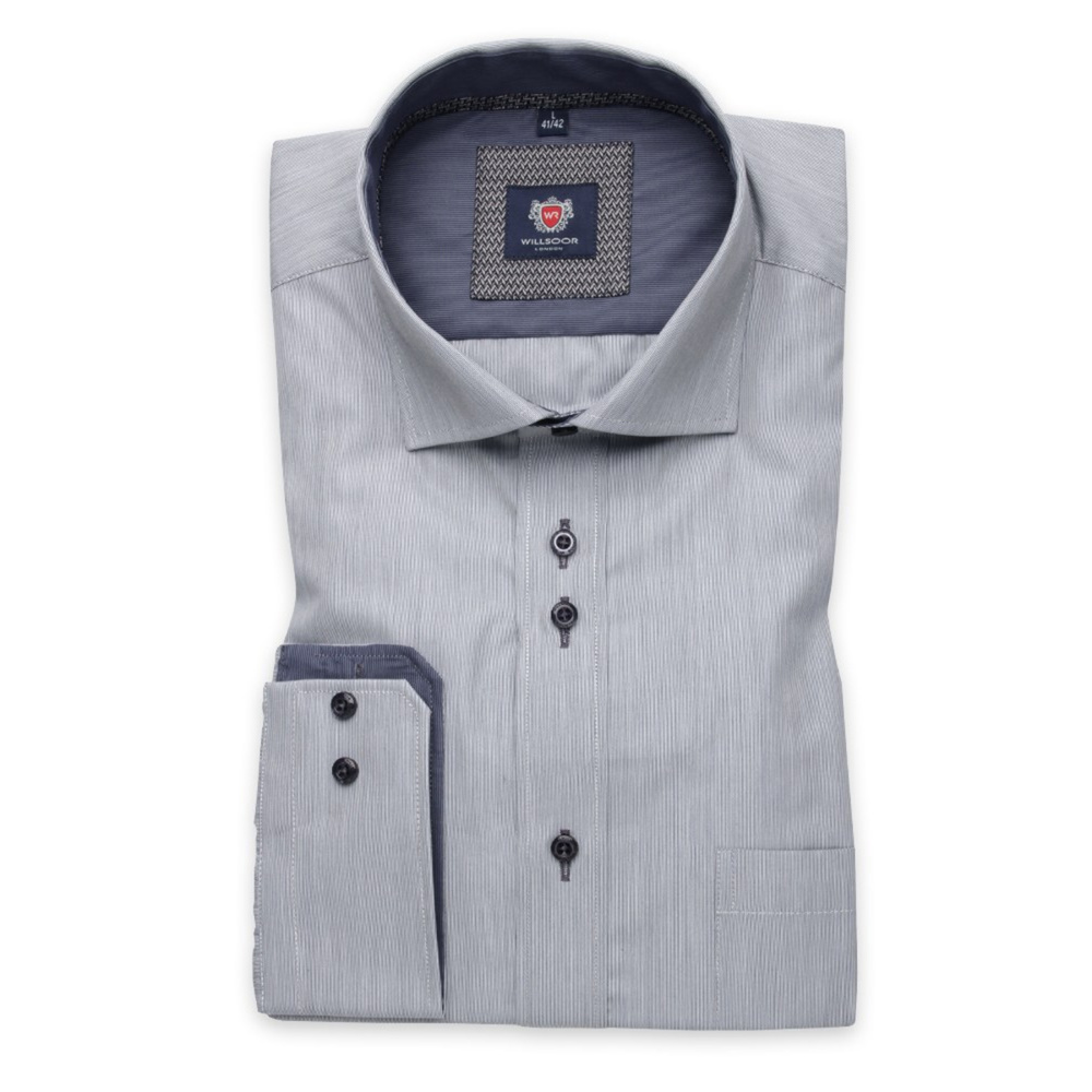 Men shirt London in gray color (height 176-182) 5595
