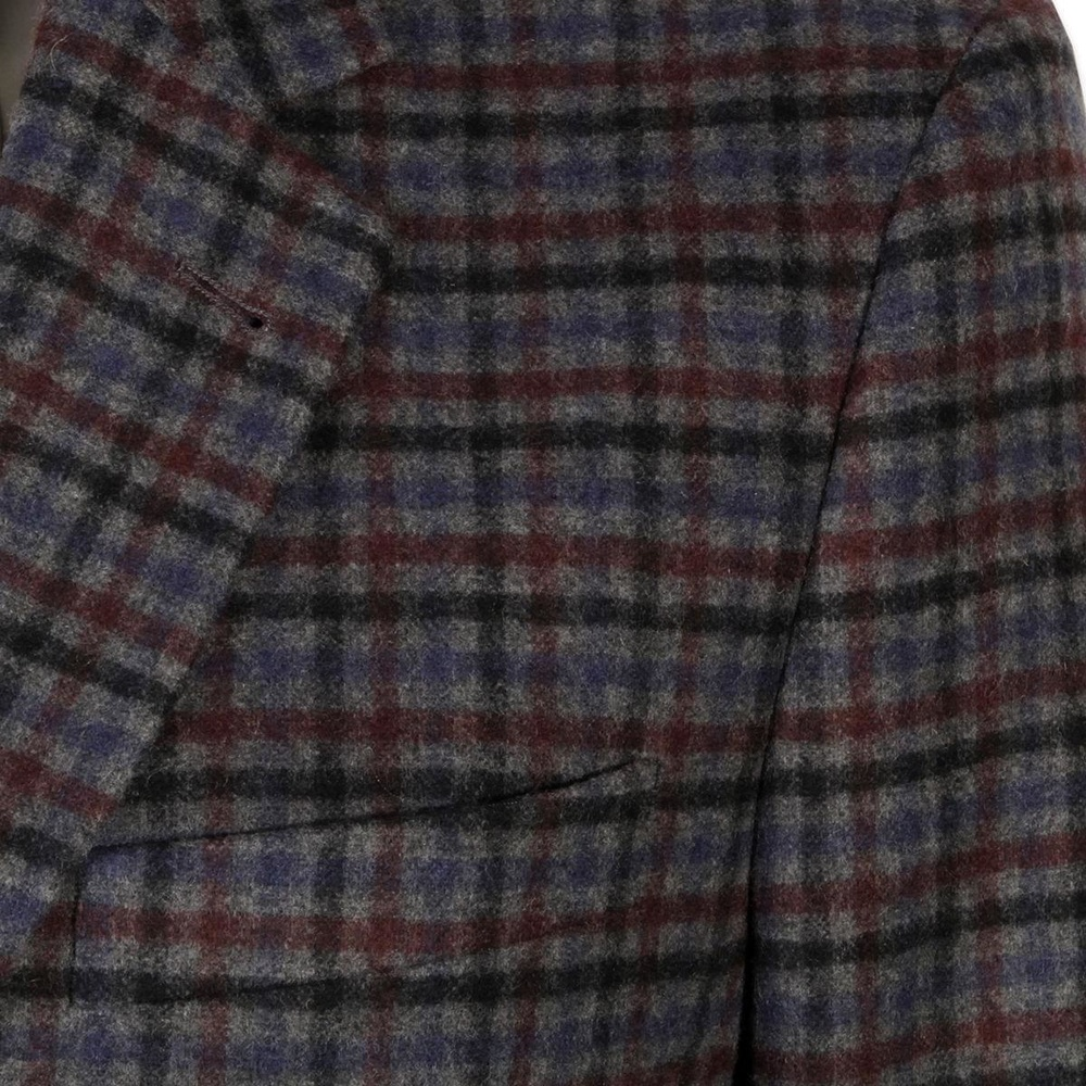 Men suit jacket Willsoor (height 176-182) 5617 in gray coloured with checked
