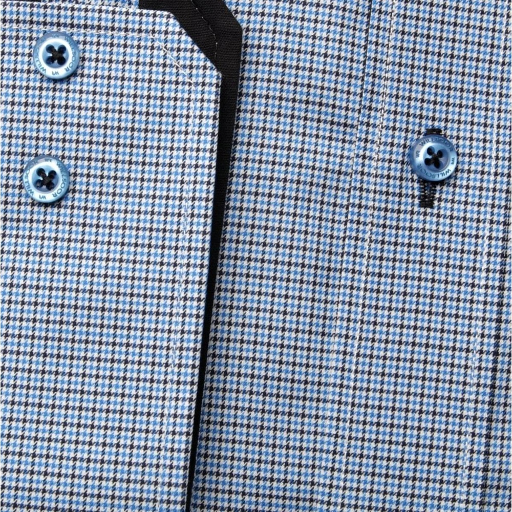 Men shirt Slim Fit (height 176-182) 5707 in blue color with checked