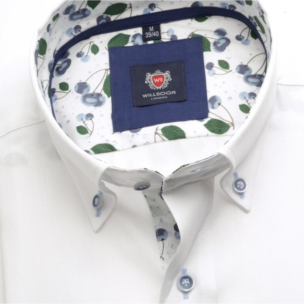 Men shirt London (height 176-182) 5735 in white color