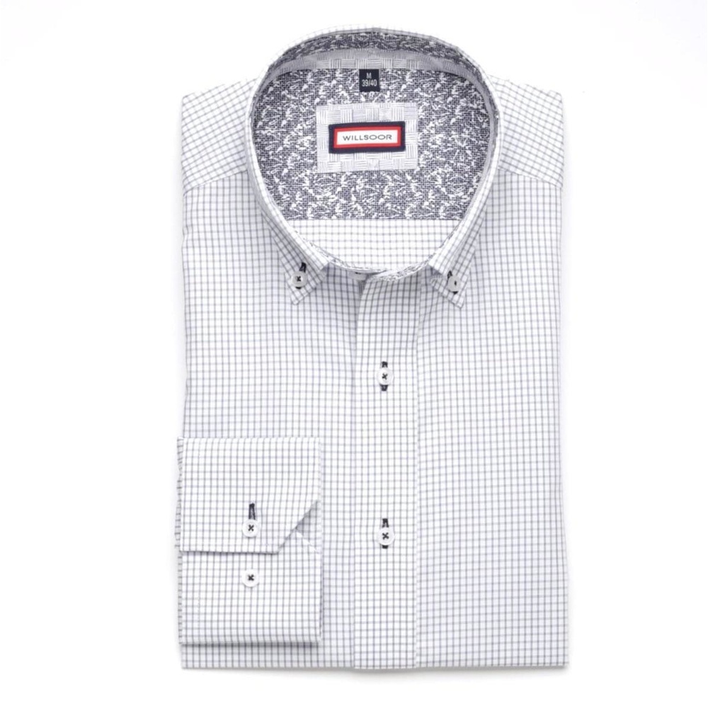Men shirt Slim Fit (height 176-182) 5750 in white color