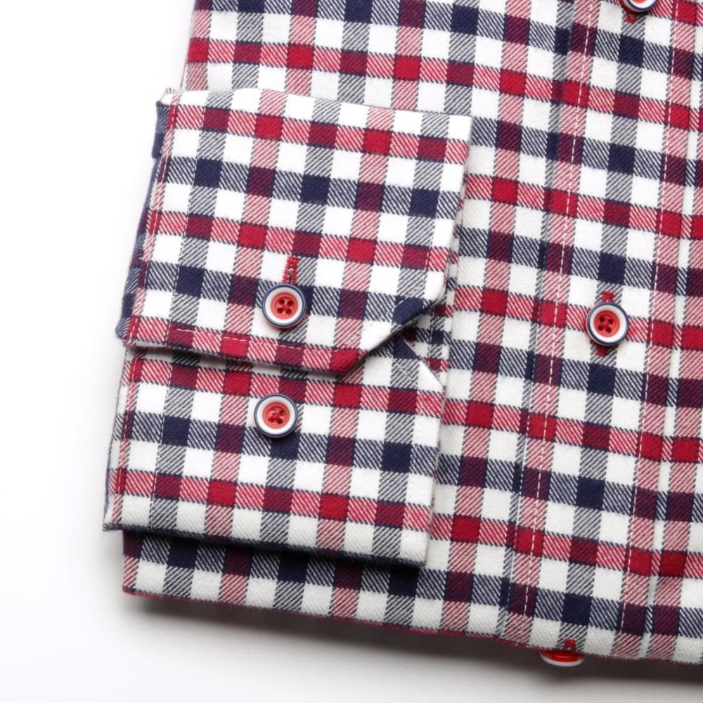 Men shirt Slim Fit (height 176-182) 5764 with coloured checked