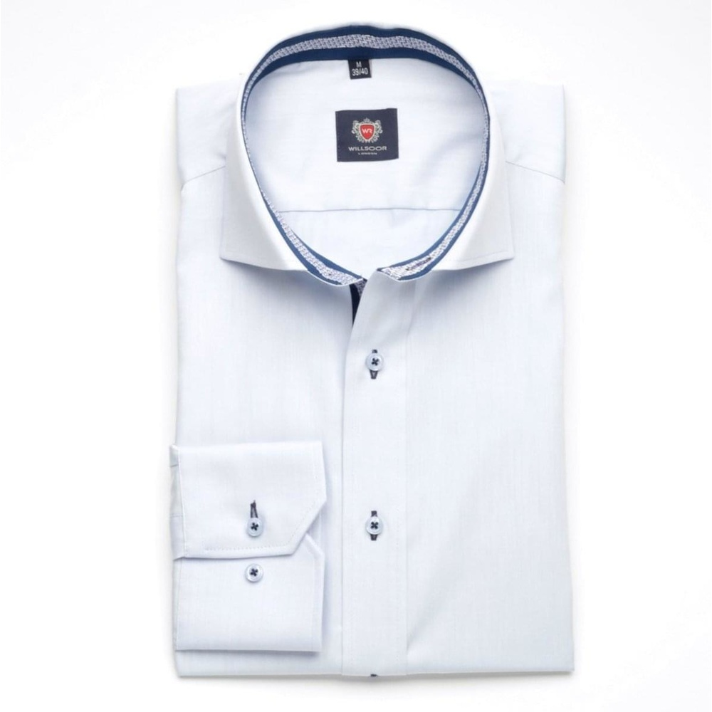 Men shirt London (height 176-182) 5779 in light blue color