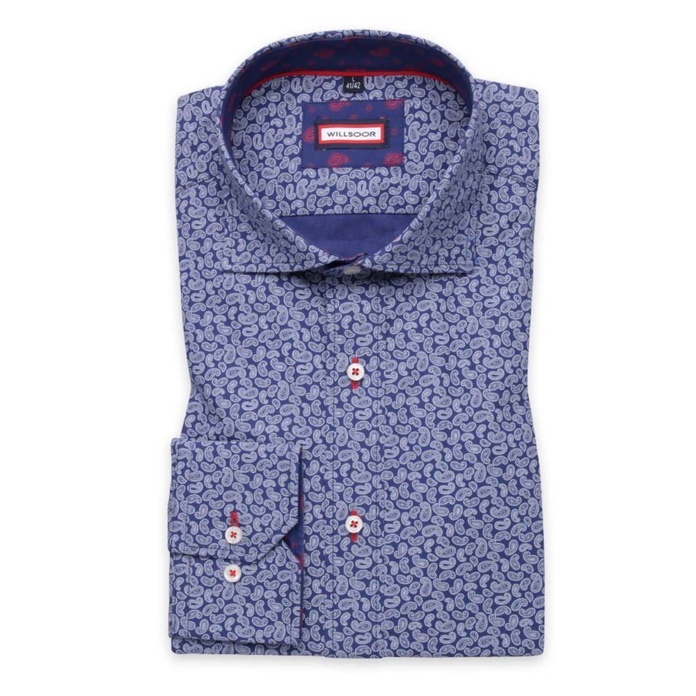 Men shirt Slim Fit (height 176-182) 5841 in blue color