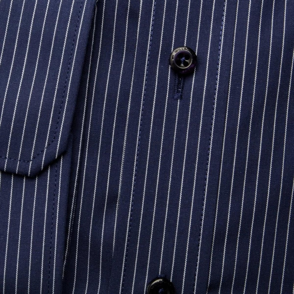 Men shirt Slim Fit (height 176-182) 5862 in blue color with strip