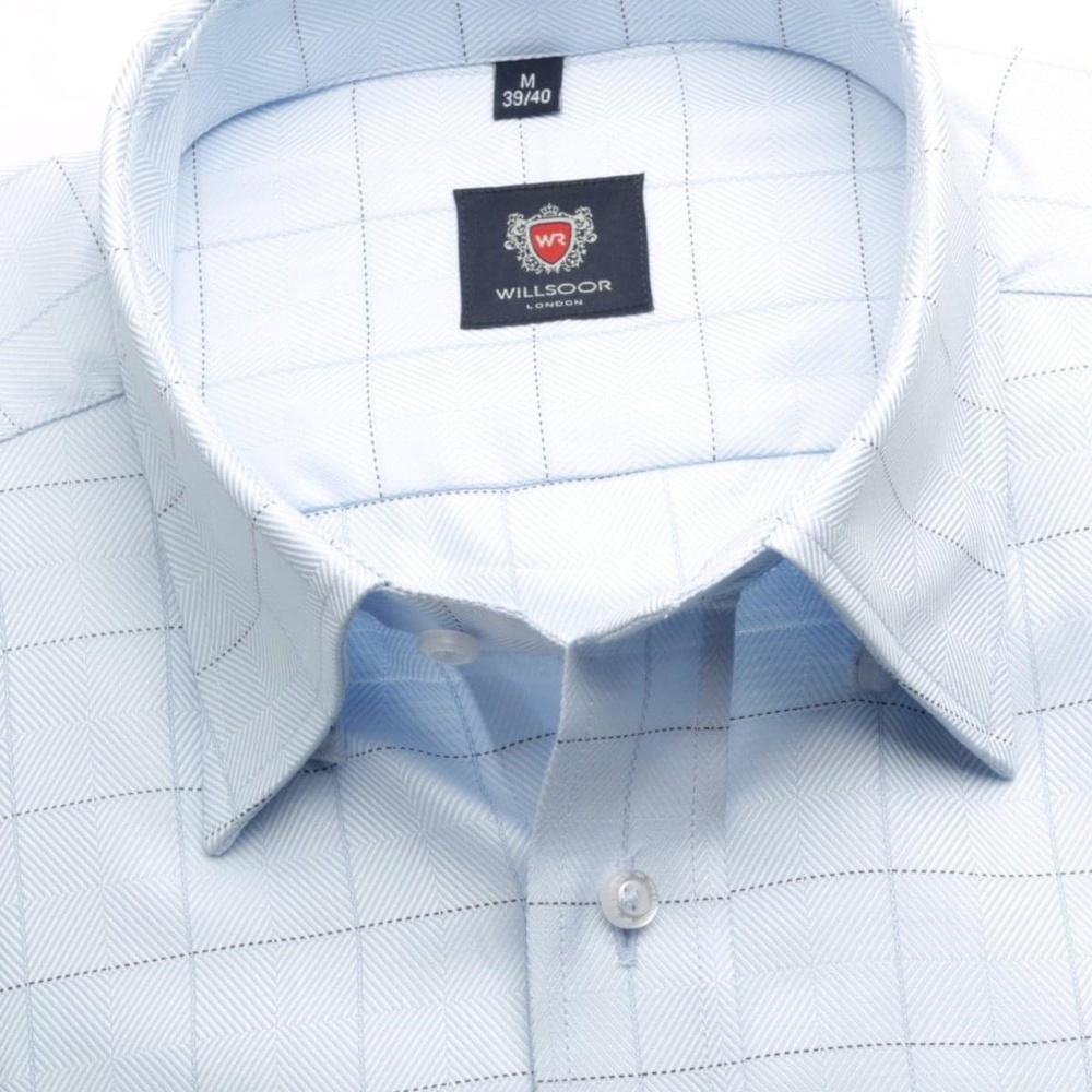 Men shirt London (height 176-182) 5876 in blue color