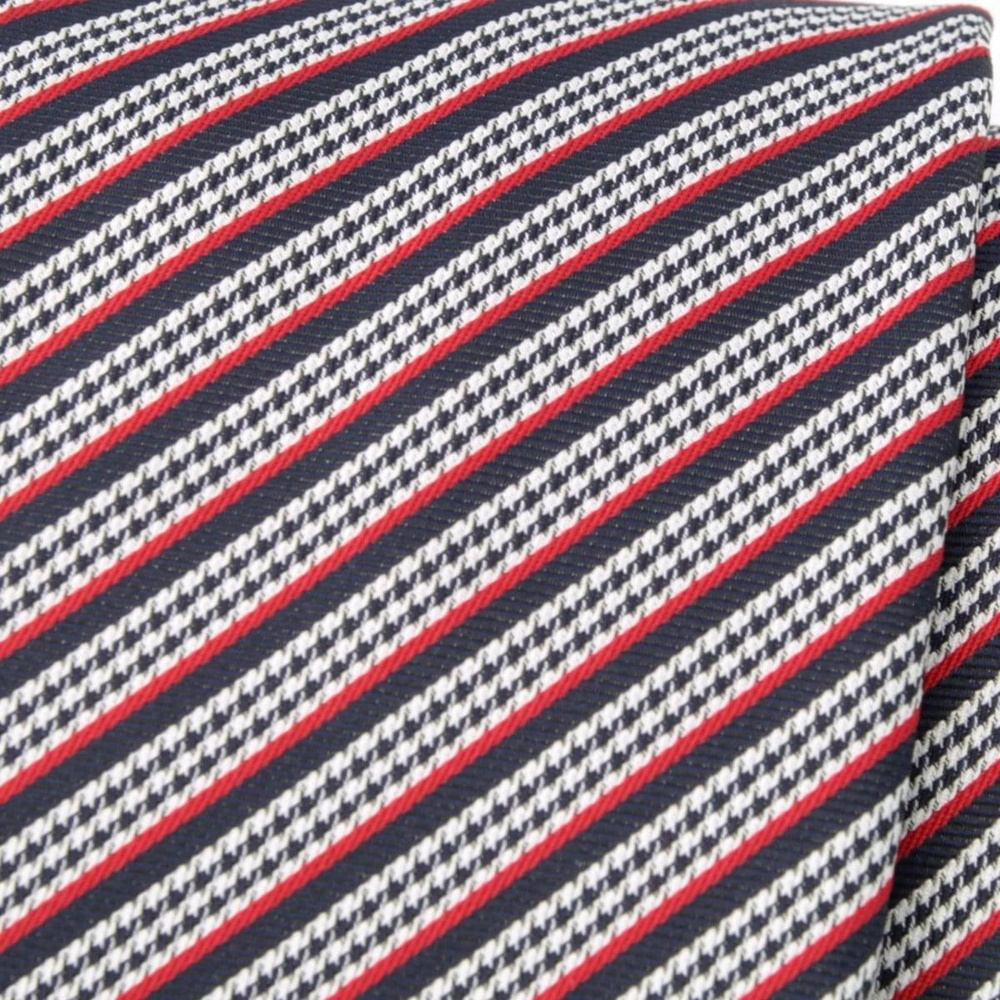 Men tie of microfiber (pattern 1155) 6049 with strips