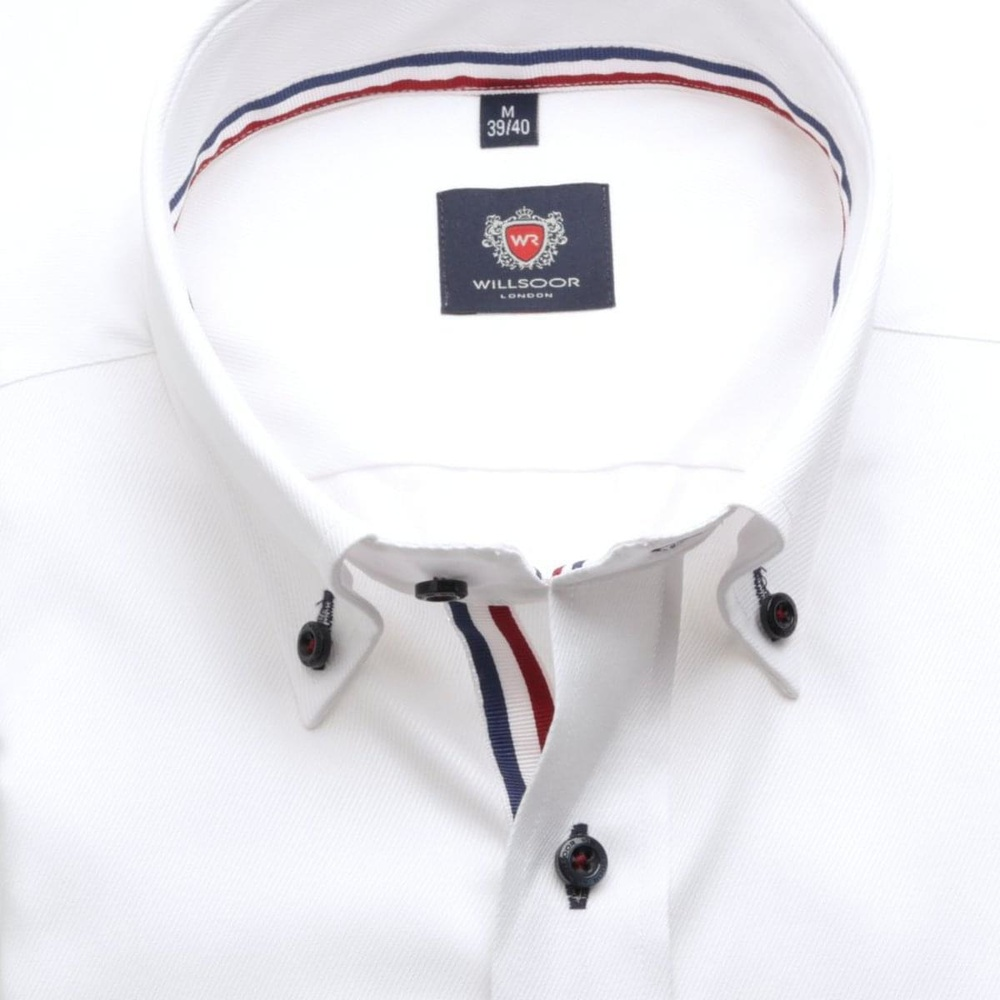 Men slim fit shirt London (height 198-204) 6150 in white color with formula Easy Care