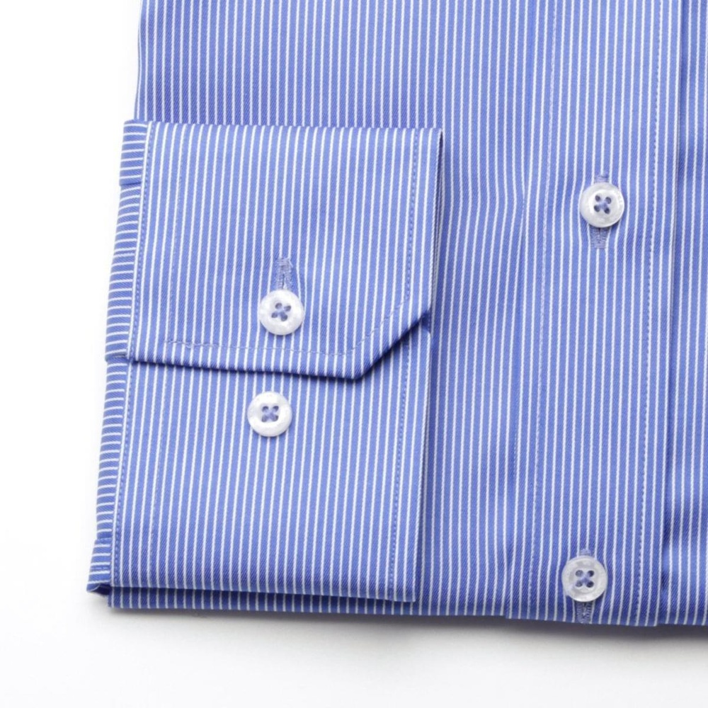 Men slim fit shirt London (height 198-204) 6154 in blue color with white strip a formula 2W Plus