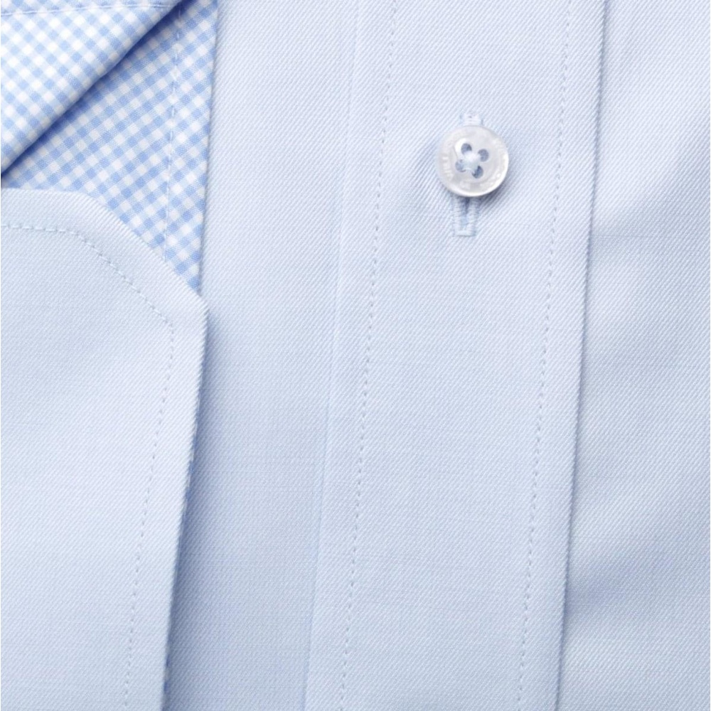 Men slim fit shirt London (height 198-204) 6232 in light blue color with formula Easy Care