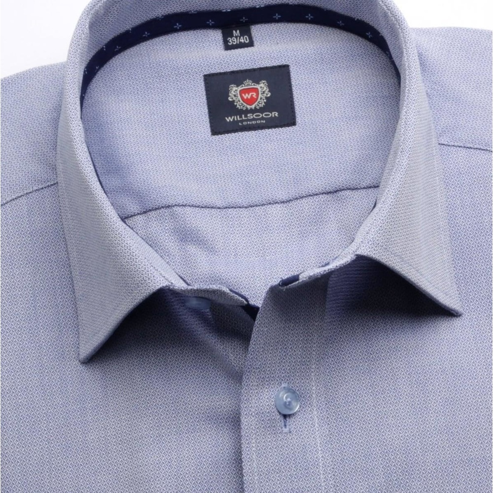 Men classic shirt London (height 188-194) 6245 in blue color with formula Easy Care