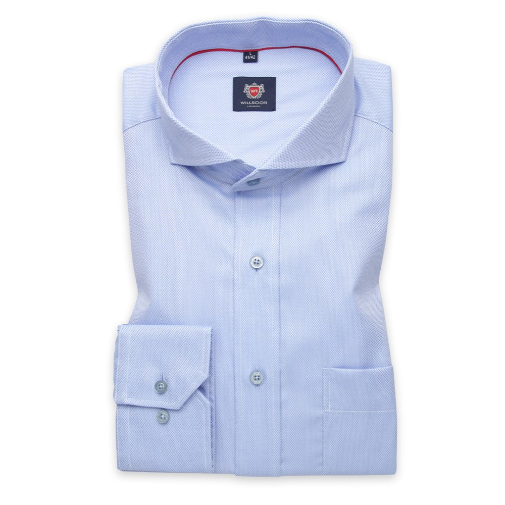 Men classic shirt London (height 176-182) 6322 in blue color with adjusting easy care