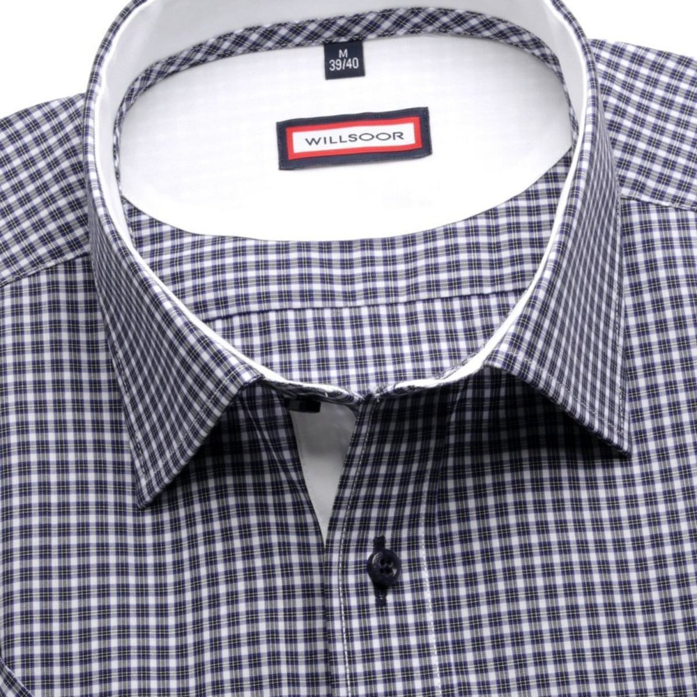Men slim fit shirt (height 176-182) 6349 with fine checked