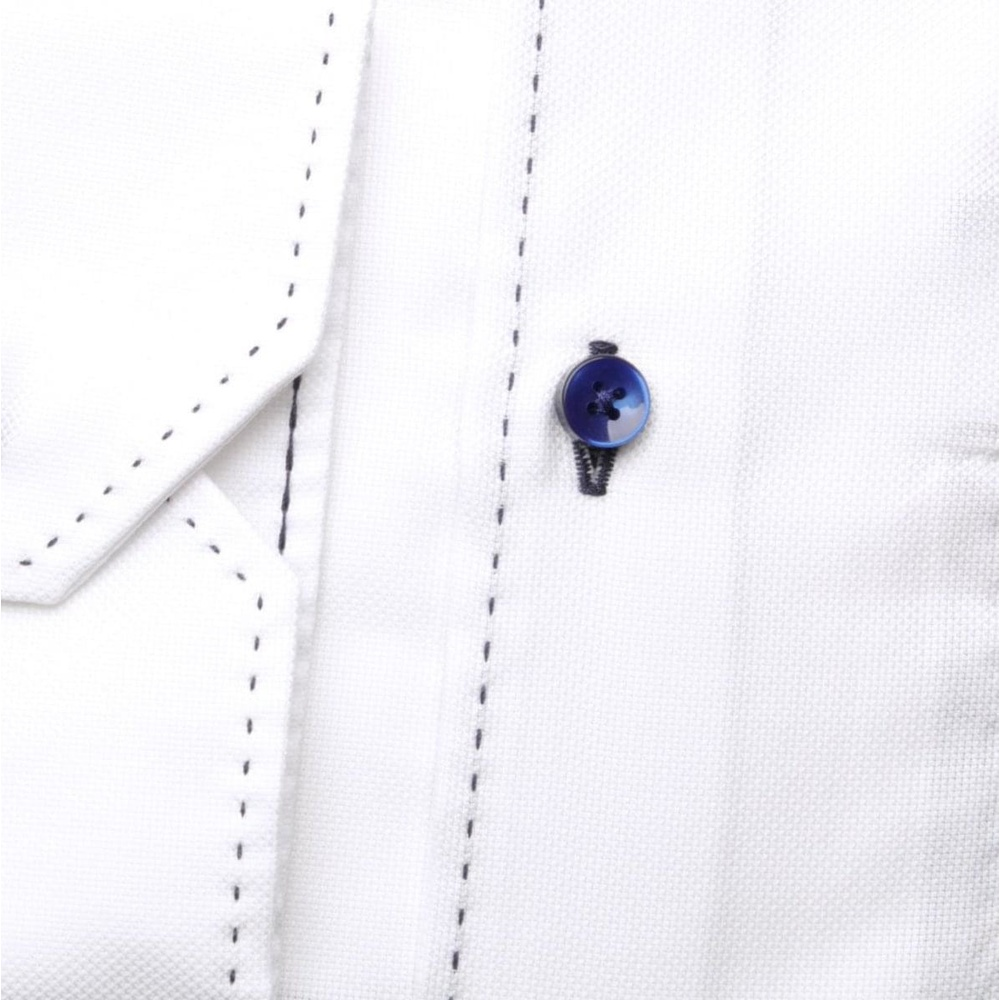 Men slim fit shirt London (height 176-182) 6368 in white color with classic collar
