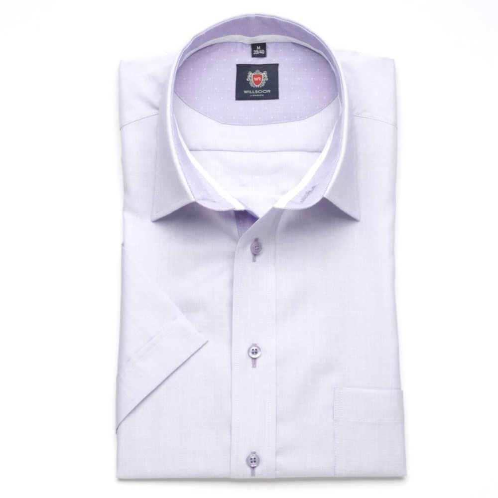 Men slim fit shirt London (height 176-182) 6383 in violet color with formula Easy Care