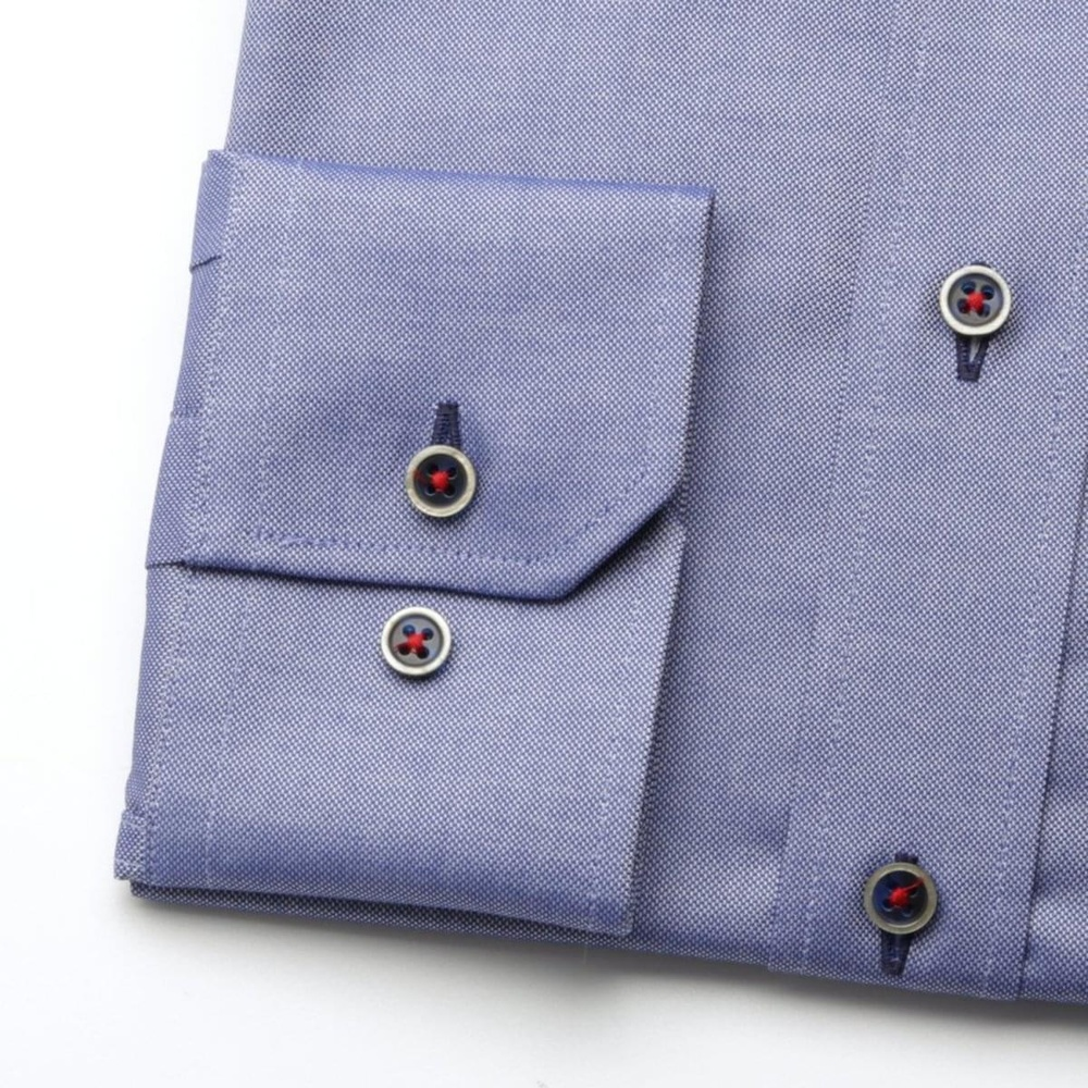 Men slim fit (height 176-182) 6390 in blue color with collar to cufflinks