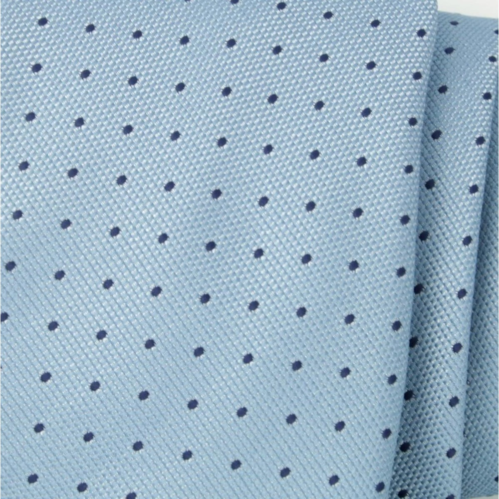 Men tie of microfiber (pattern 1191) 6526 in light blue color