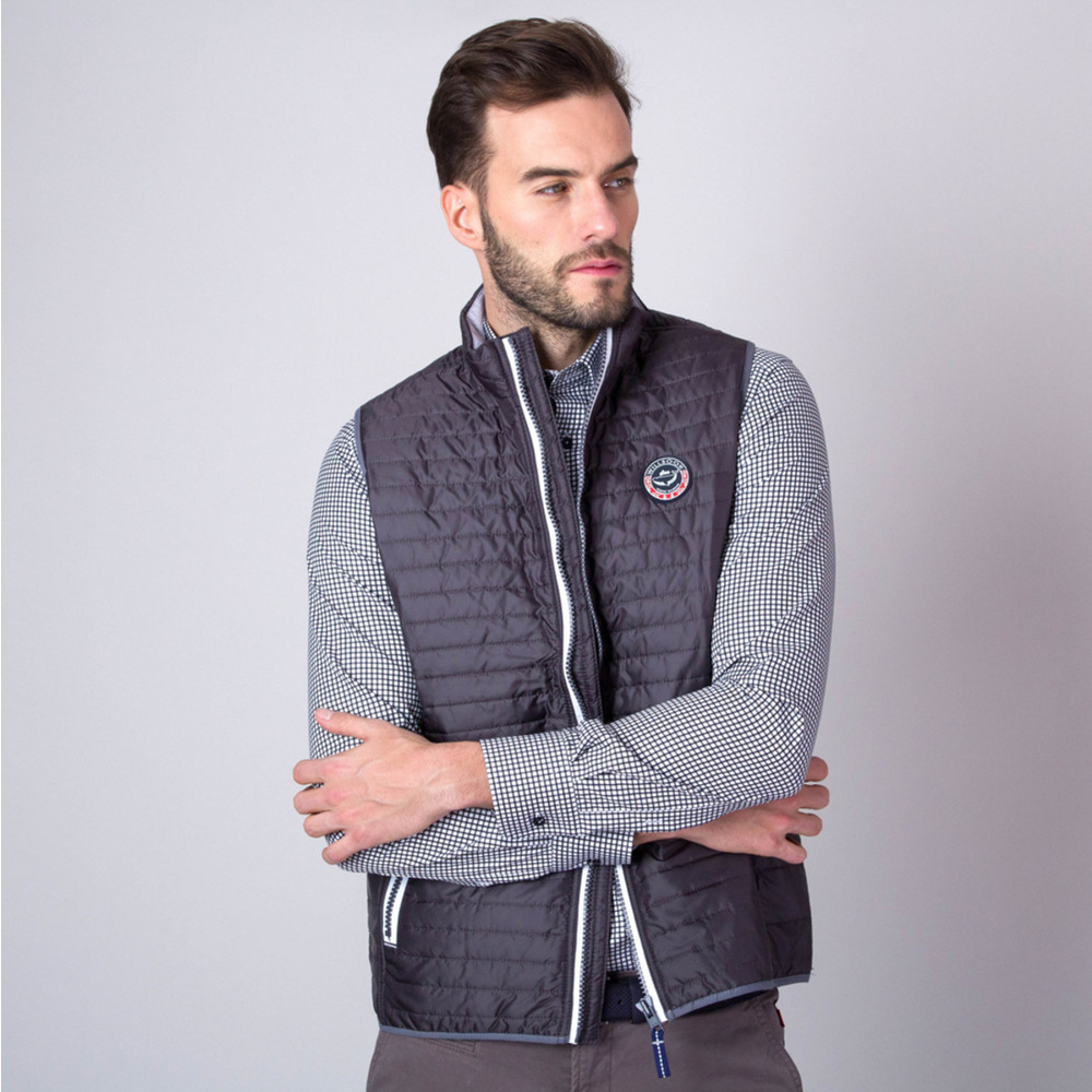 Men quilted vest (height 176-182) 6634 in graphite color
