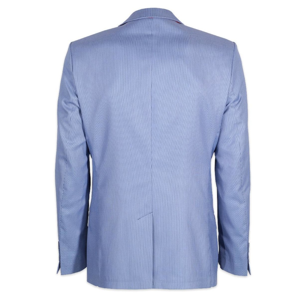 Men suit jacket Willsoor (height 176-182) 6656 with fine strip in blue color