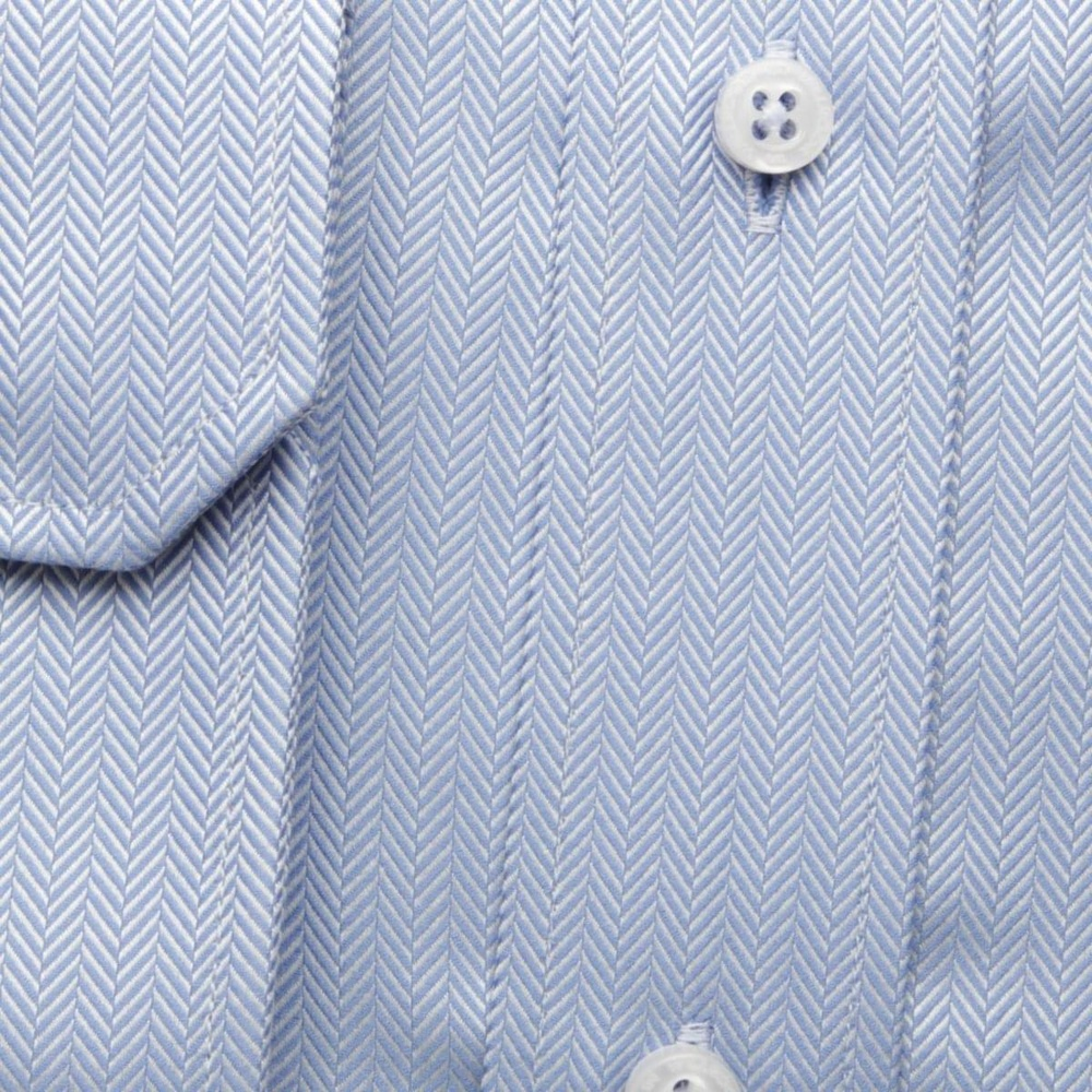 Men classic shirt London (height 188-194) 6685 in blue color with formula Easy Care