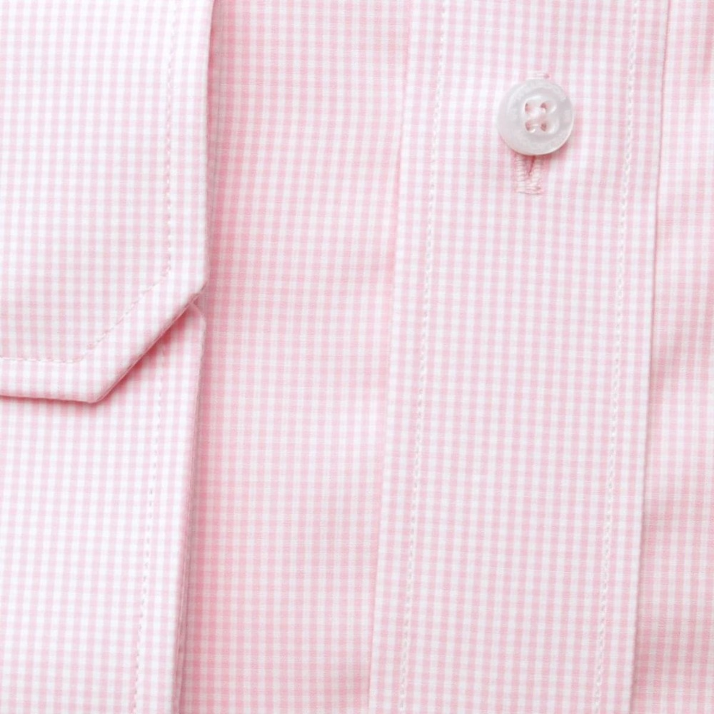 Men slim fit shirt (height 188-194) 6718 with pink checked