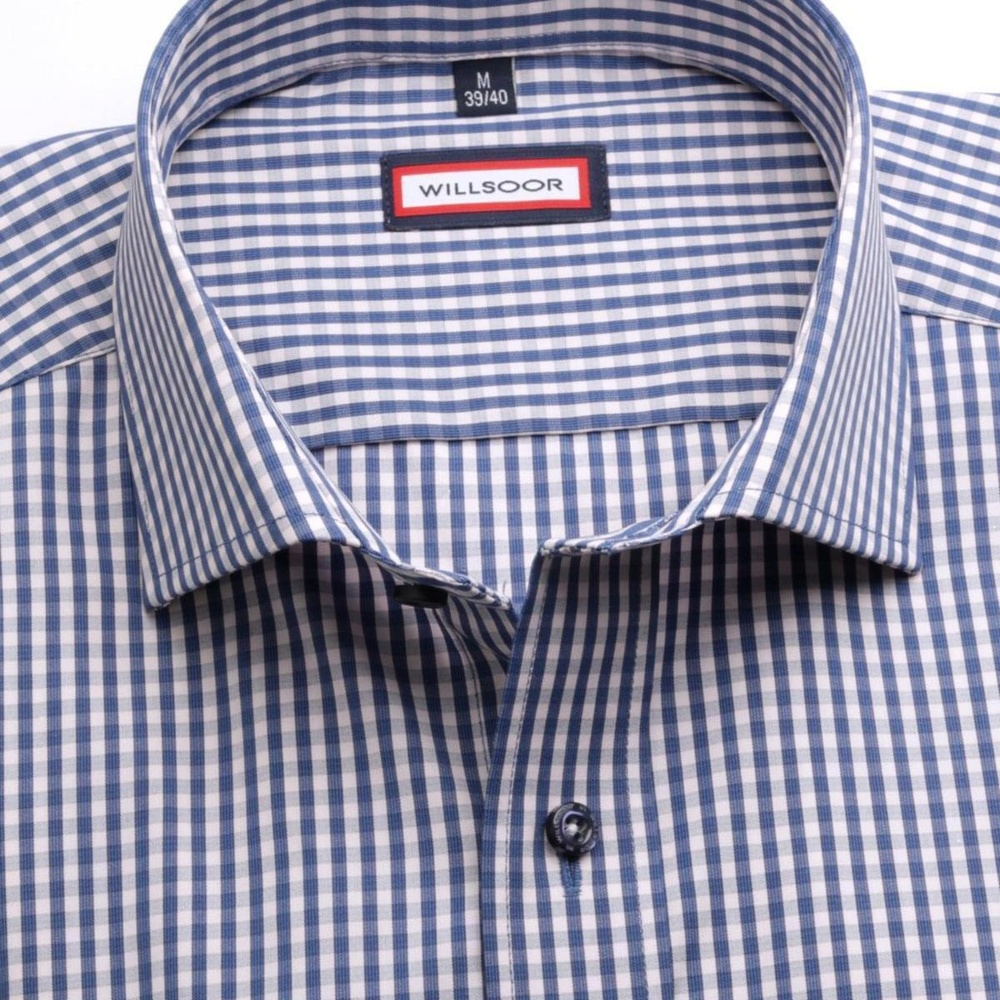 Men slim fit shirt (height 176-182) 6723 with checked a formula Easy Care