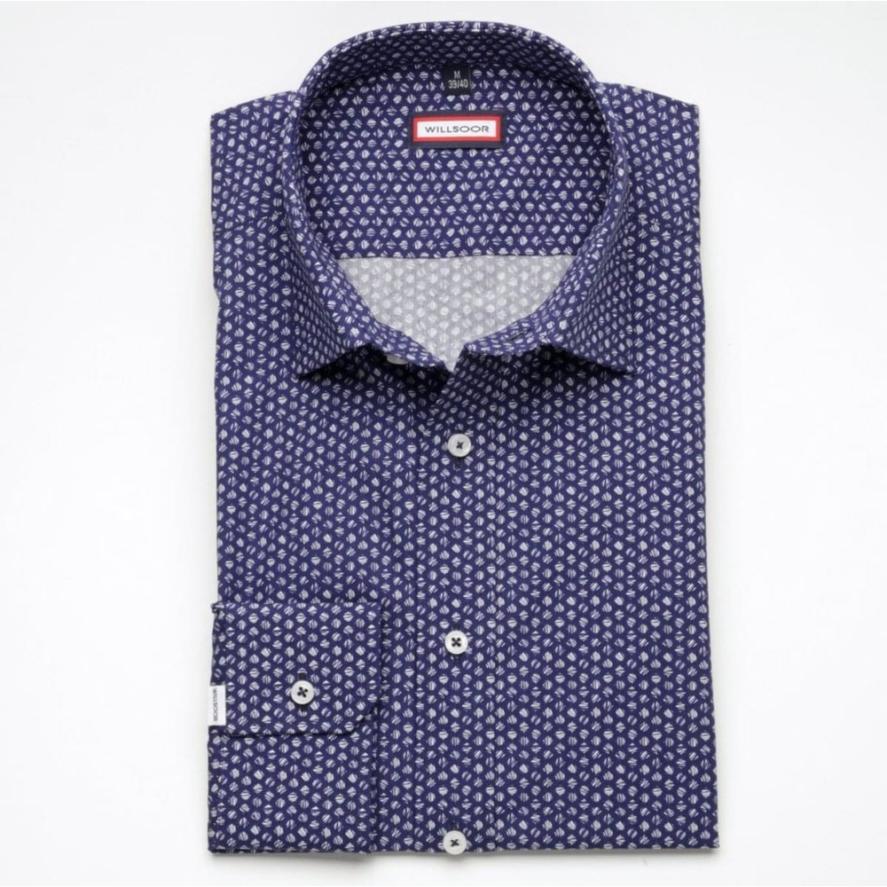 Men slim fit shirt (height 176-182) 6800 in blue color with formula Easy Care