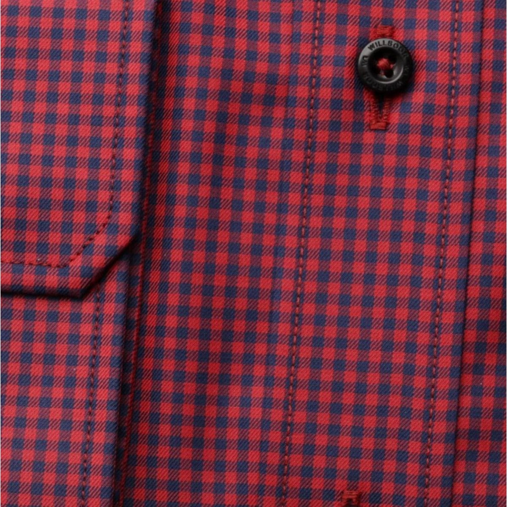 Men slim fit shirt (height 176-182) 6849 with coloured checked a formula Easy Care